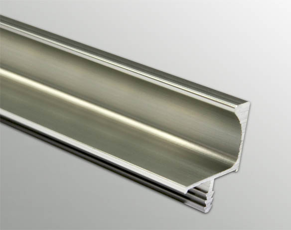 Aluminum Handleless Overhead Cabinet Profile Anodize Finish GW-6142 3 Mtr.