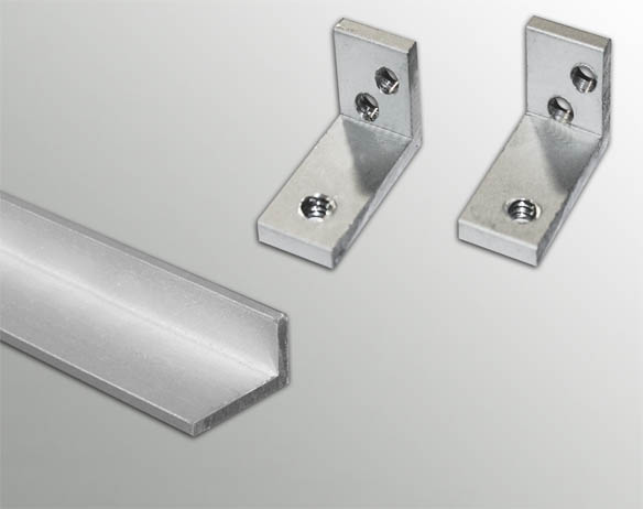 Aluminum Profile for Mid Partition Connector GW-R-12 Anodize Finish 3 Mtr.