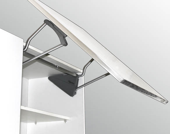Angled Double Buffering Cabinet Support 350N Set